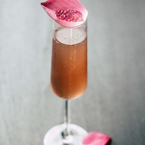 Photo d'une coupe de champagne