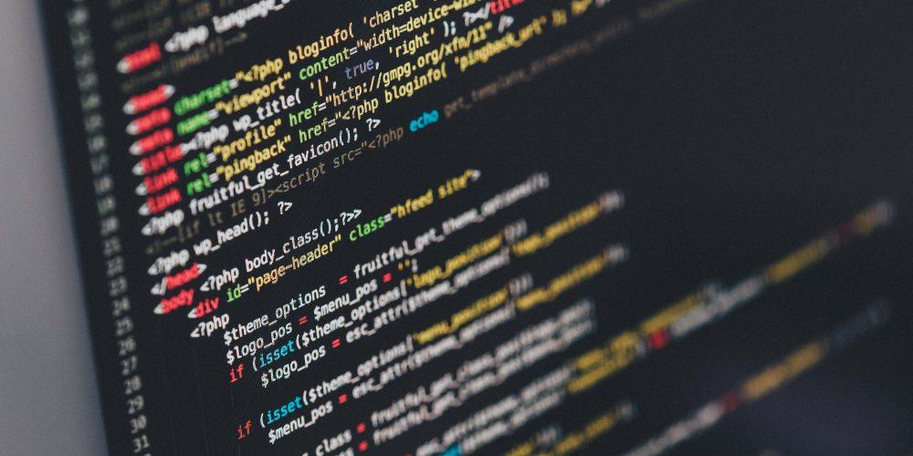 Photo de lignes de code